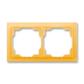 Rámček pre elektroinštalačné prístroje, dvoj násobný, Neo®, ľadová oranžová