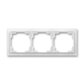Rámček pre elektroinštalačné prístroje, troj násobný, Neo®, ľadová biela