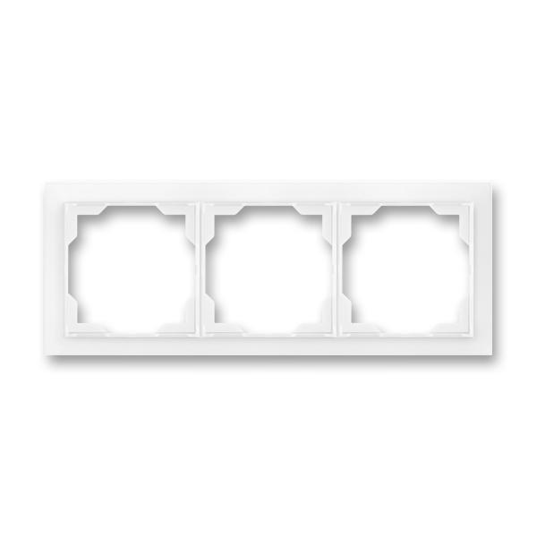 Rámček pre elektroinštalačné prístroje, troj násobný, Neo®, biela