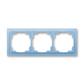 Rámček pre elektroinštalačné prístroje, troj násobný, Neo®, ľadová modrá