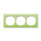 Rámček pre elektroinštalačné prístroje, troj násobný, Neo®, ľadová zelená
