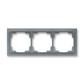 Rámček pre elektroinštalačné prístroje, troj násobný, Neo®, ľadová šedá
