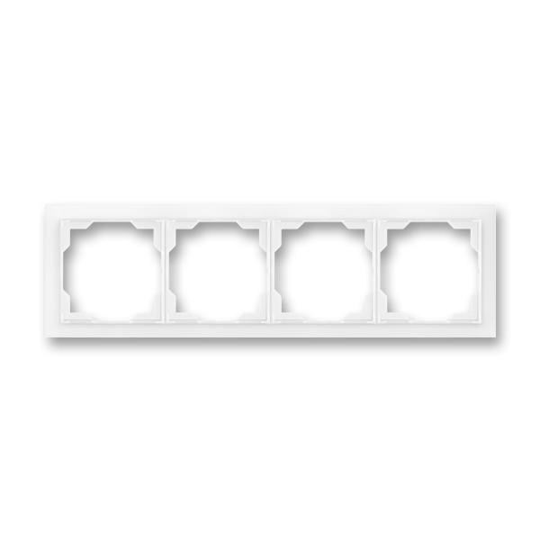 Rámček pre elektroinštalačné prístroje, štvor násobný, Neo®, biela