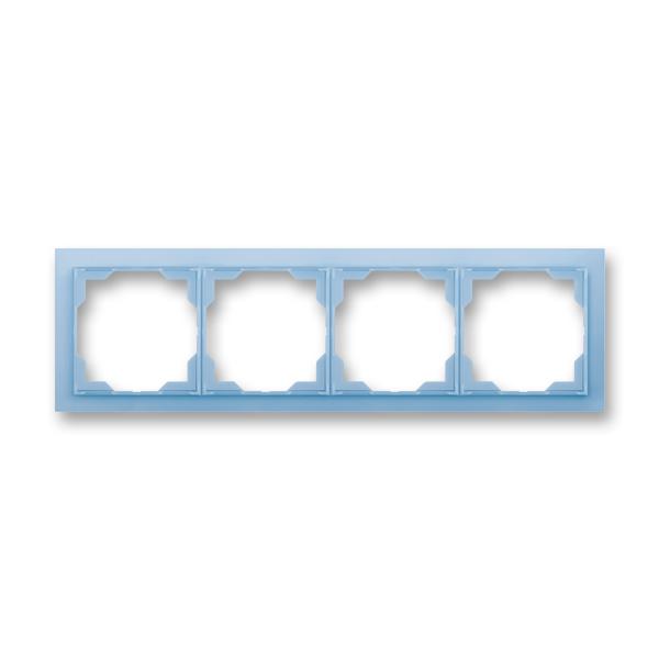 Rámček pre elektroinštalačné prístroje, štvor násobný, Neo®, ľadová modrá