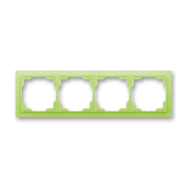 Rámček pre elektroinštalačné prístroje, štvor násobný, Neo®, ľadová zelená