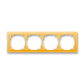 Rámček pre elektroinštalačné prístroje, štvor násobný, Neo®, ľadová oranžová