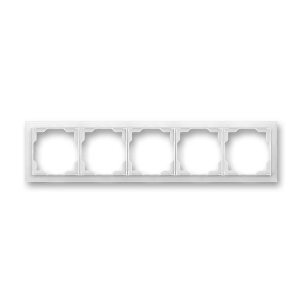 Rámček pre elektroinštalačné prístroje, päť násobný, Neo®, biela