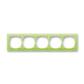 Rámček pre elektroinštalačné prístroje, päť násobný, Neo®, ľadová zelená