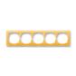 Rámček pre elektroinštalačné prístroje, päť násobný, Neo®, ľadová oranžová