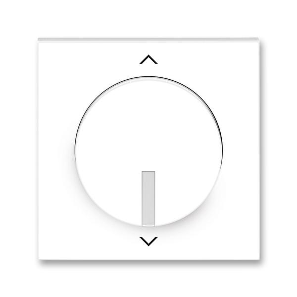 Kryt spínača žalúziového s krátkocestným ovládačom, s potlačou, Neo®, biela / ľadová biela
