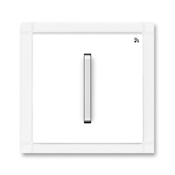 Vysielač RF jednonásobný, nástenný, Neo®, biela / ľadová biela