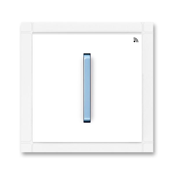 Vysielač RF jednonásobný, nástenný, Neo®, biela / ľadová modrá