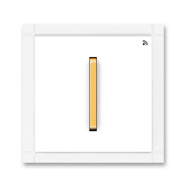 Vysielač RF jednonásobný, nástenný, Neo®, biela / ľadová oranžová