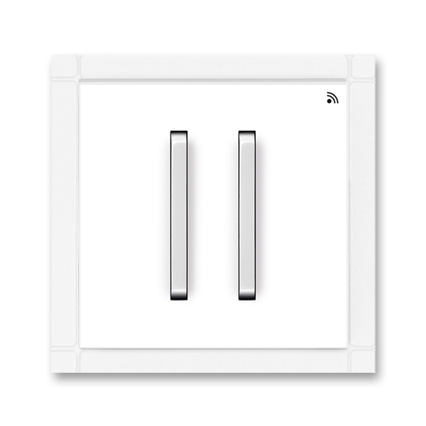 Vysielač RF dvojnásobný, nástenný, Neo®, biela / ľadová biela