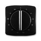 Kryt ovládača časového s otočným ovládačom, Tango®, čierna