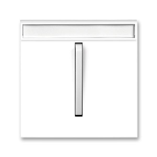 Kryt spínača jednoduchý s páčkou, s popisovým poľom, Neo®, biela / ľadová biela