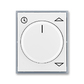 Kryt spínača žalúziového komfortného, s otočným ovládačom, Element®, biela / ľadová šedá