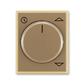 Kryt spínača žalúziového komfortného, s otočným ovládačom, Element®, kávová / ľadová opálová