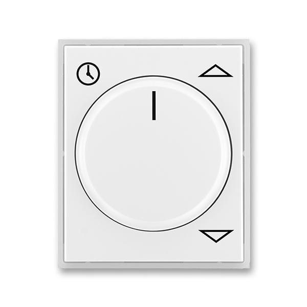 Kryt spínača žalúziového komfortného, s otočným ovládačom, Time®, Element®, biela / ľadová biela