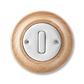 Ovládač prepínací so svorkou N, Decento®, biela / prírodný buk