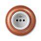 Zásuvka jednonásobná s ochranným kolíkom, Decento®, biela / čerešňa