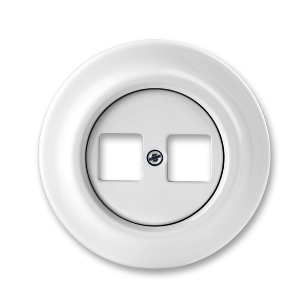 Zásuvka komunikačná dvojnásobná, Decento®, biela