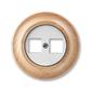 Zásuvka komunikačná dvojnásobná, Decento®, biela / prírodný buk