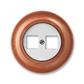 Zásuvka komunikačná dvojnásobná, Decento®, biela / čerešňa