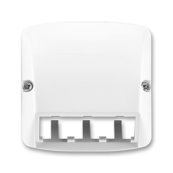 Kryt pre prístroj šikmého osvetlenia s LED alebo pre prvky Panduit Mini-Com, Tango®, biela