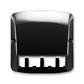 Kryt pre prístroj šikmého osvetlenia s LED alebo pre prvky Panduit Mini-Com, Tango®, čierna