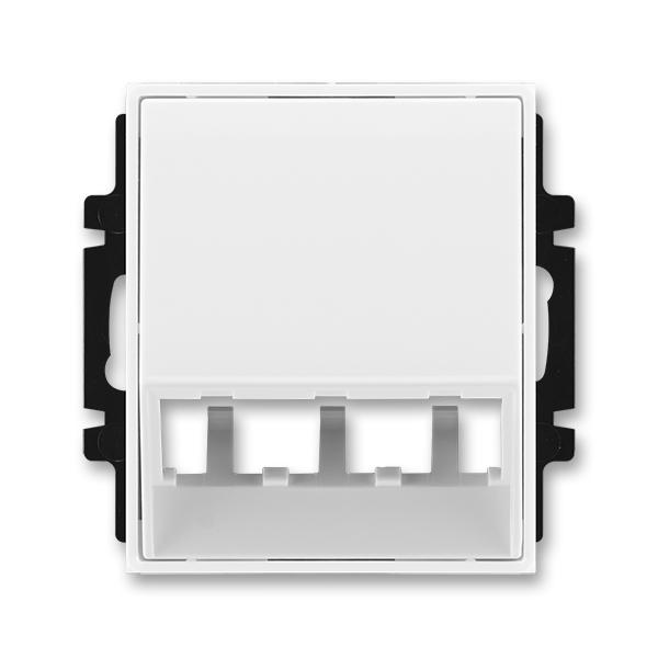 Kryt pre prístroj šikmého osvetlenia s LED alebo pre prvky Panduit Mini-Com, Element®, Time®, biela / biela