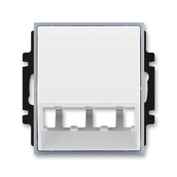 Kryt pre prístroj šikmého osvetlenia s LED alebo pre prvky Panduit Mini-Com, Element®, biela / ľadová šedá