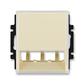 Kryt pre prístroj šikmého osvetlenia s LED alebo pre prvky Panduit Mini-Com, Element®, slonová kosť / ľadová biela