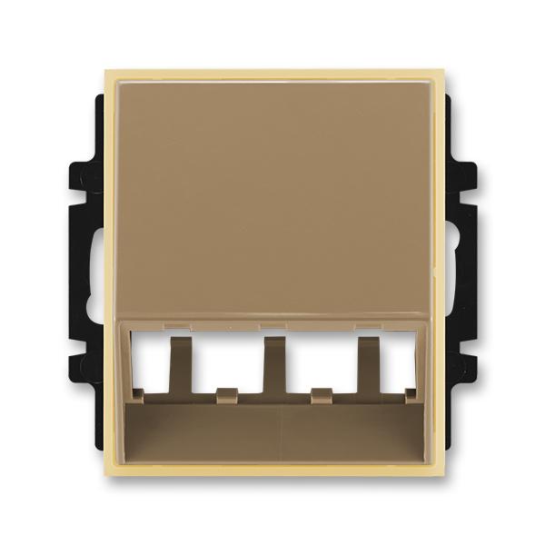 Kryt pre prístroj šikmého osvetlenia s LED alebo pre prvky Panduit Mini-Com, Element®, kávová / ľadová opálová