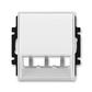 Kryt pre prístroj šikmého osvetlenia s LED alebo pre prvky Panduit Mini-Com, Time®, Element®, biela / ľadová biela