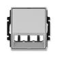 Kryt pre prístroj šikmého osvetlenia s LED alebo pre prvky Panduit Mini-Com, Time®, Time® Arbo, titánová