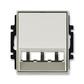 Kryt pre prístroj šikmého osvetlenia s LED alebo pre prvky Panduit Mini-Com, Time®, Time® Arbo, starostrieborná