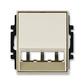 Kryt pre prístroj šikmého osvetlenia s LED alebo pre prvky Panduit Mini-Com, Time®, Time® Arbo, šampanská