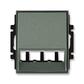 Kryt pre prístroj šikmého osvetlenia s LED alebo pre prvky Panduit Mini-Com, Time®, Time® Arbo, antracitová