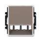 Kryt pre prístroj šikmého osvetlenia s LED alebo pre prvky Panduit Mini-Com, Time®, lungo / mliečna biela