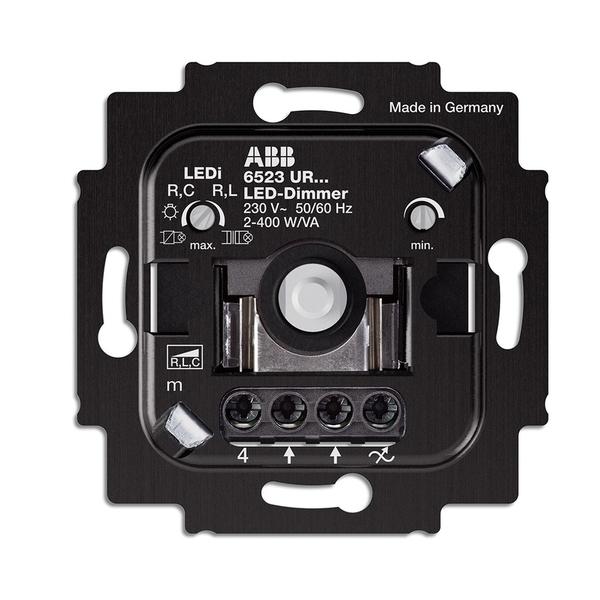 Prístroj stmievača pre regulovatelné LED žiarovky, pre otočné ovládanie a tlačidlové spínanie,