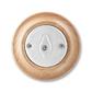 Prepínač striedavý, otočný, Decento®, biela / prírodný buk