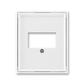 Kryt zásuvky komunikačnej priamej, Element®, Time®, biela / biela