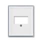 Kryt zásuvky komunikačnej priamej, Element®, biela / ľadová šedá