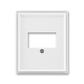 Kryt zásuvky komunikačnej priamej, Time®, Element®, biela / ľadová biela