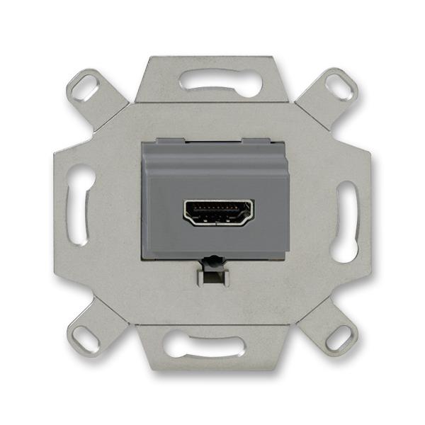 Zásuvka komunikačná HDMI, šedá