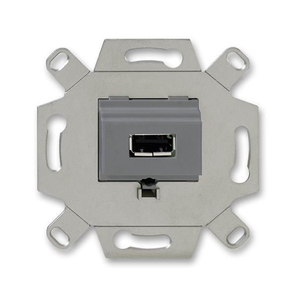 Zásuvka komunikačná USB, šedá