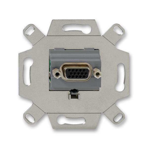 Zásuvka komunikačná VGA, šedá
