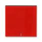 Kryt spínača kolískového s čírym priezorom, Levit®, červená / dymová čierna