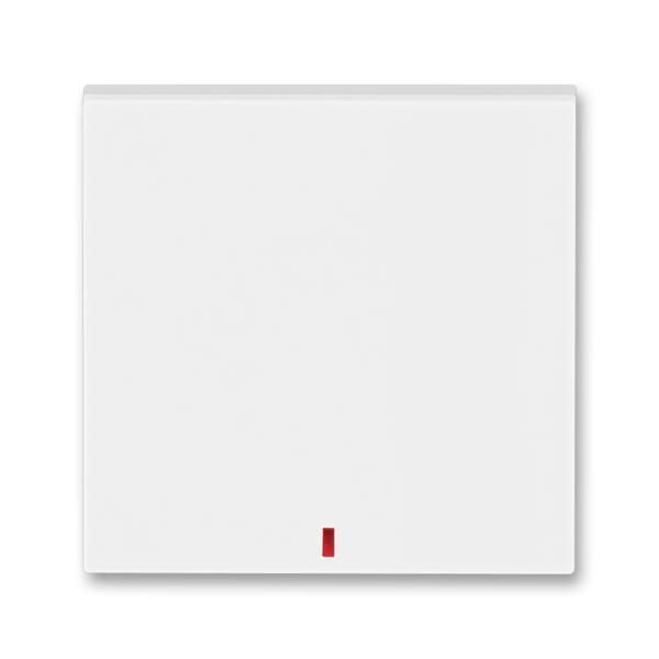 Kryt spínača kolískového s červeným priezorom, Levit®, biela / ľadová biela